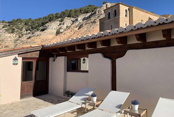 terraza-con-vistas casa rural en guadalajara